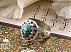 انگشتر نقره فیروزه نیشابوری زبرجد یاقوت آفریقایی شاهانه مردانه دست ساز - 34698 - 1