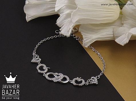 دستبند نقره طرح گیتی زنانه - 35569