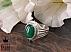 انگشتر نقره عقیق سبز درشت مردانه - 35674 - 1