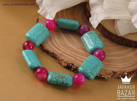 عکس دستبند عقیق آبی زنانه