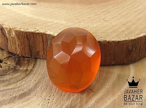 نگین تک عقیق یمن الماس تراش حکاکی شرف الشمس - 36029