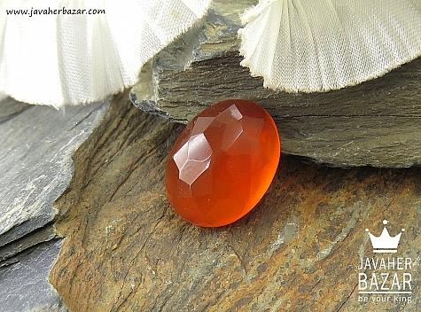 نگین تک عقیق یمن الماس تراش حکاکی شرف الشمس - 36030