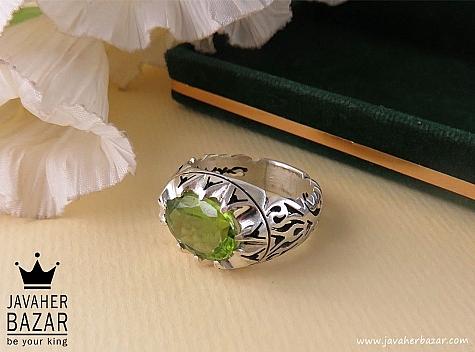 انگشتر نقره زبرجد طرح صفوی مردانه - 36056