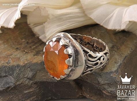 انگشتر نقره یاقوت آفریقایی شاهانه مردانه - 36424