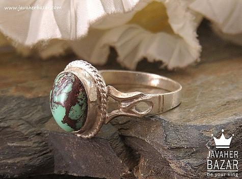 انگشتر نقره فیروزه نیشابوری ارزشمند مردانه - 36429