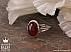 انگشتر نقره عقیق یمن الماس تراش مردانه دست ساز - 36485 - 1