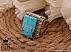 انگشتر نقره فیروزه نیشابوری و برلیان اصل لوکس و شاهانه مردانه دست ساز - 36493 - 1