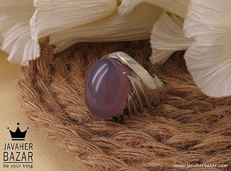 انگشتر نقره عقیق یمن کبود شاهانه مردانه - 36502