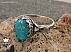 انگشتر نقره فیروزه نیشابوری شاهانه مردانه - 36572 - 1