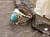 انگشتر نقره فیروزه نیشابوری شاهانه مردانه دست ساز - 36607 - 1