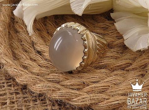 انگشتر نقره عقیق یمن شاهانه مردانه دست ساز - 36620