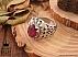 انگشتر نقره زمرد زامبیا یاقوت آفریقایی طرح شاهانه مردانه دست ساز - 36628 - 1