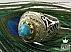 انگشتر نقره فیروزه نیشابوری شاهانه مردانه - 36642 - 1