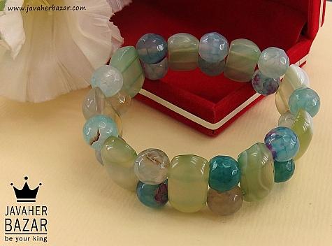 دستبند عقیق خوش رنگ طرح شیدا زنانه - 36644
