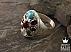 انگشتر نقره فیروزه نیشابوری در نجف زمرد زامبیا زبرجد حدید صینی مرجان یاقوت آفریقایی عقیق یمن سلطنتی مردانه - 36678 - 1