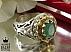 انگشتر نقره زمرد زامبیا سلطنتی مردانه دست ساز - 36916 - 1