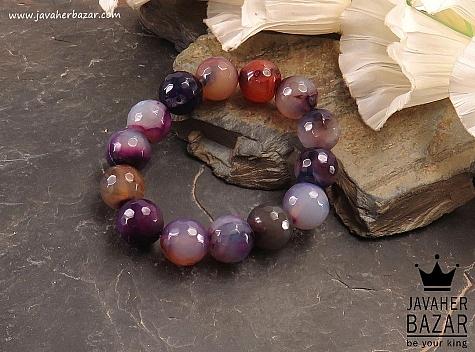 دستبند عقیق طرح شادی زنانه - 37857