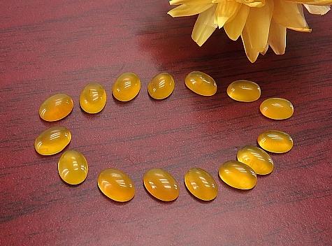 نگین تک عقیق زرد شرف الشمس خوش رنگ - 37911