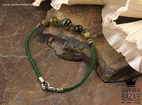 دستبند عقیق دراگون خوش رنگ زنانه - 38602