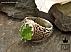 انگشتر نقره زبرجد شاهانه مردانه دست ساز - 38838 - 1
