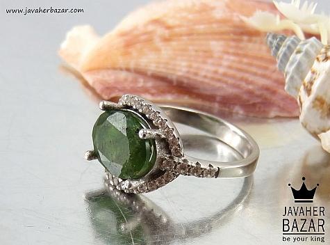 عکس انگشتر تورمالین سبز زنانه