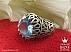 انگشتر نقره توپاز سوئیس رکاب دور اشکی لوکس مردانه دست ساز - 39995 - 1