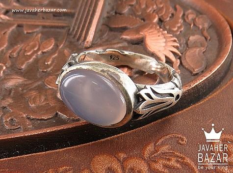 انگشتر نقره عقیق طرح صفوی مردانه - 40642