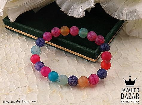 دستبند عقیق طرح شادی زنانه - 41473