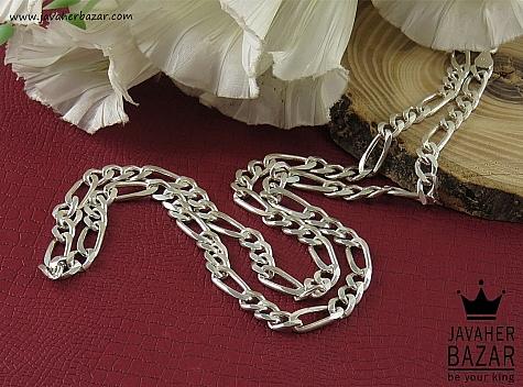 زنجیر نقره 56 سانتی مردانه - 41906