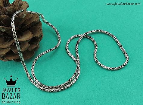 زنجیر نقره 60 سانتی طرح ماری - 41928