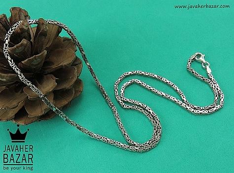 زنجیر نقره 60 سانتی طرح ماری - 41929