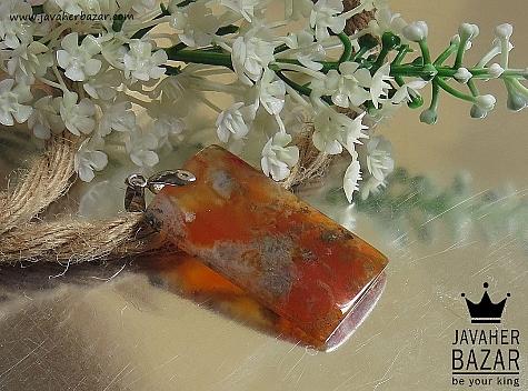 مدال عقیق نارنجی زنانه