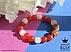 دستبند جید قرمز و سفید طرح محبوب زنانه - 42083 - 1