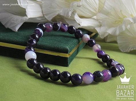 دستبند عقیق خوش رنگ زنانه - 42239