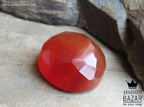 نگین تک عقیق الماس تراش - 42457
