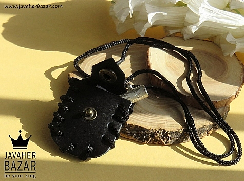 کیف نقره چرم طبیعی جا دعایی حرز امام جواددست نویس روی پوست آهو - 42500