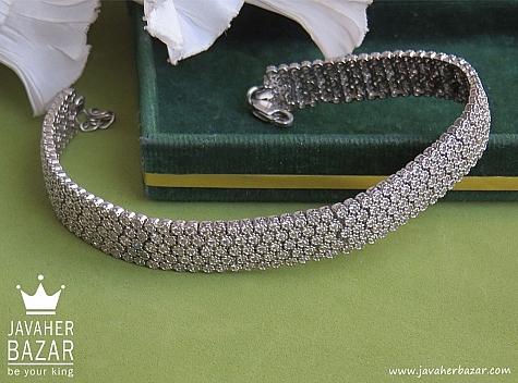 دستبند نقره میکرو طرح جواهری پرنسس زنانه - 42899