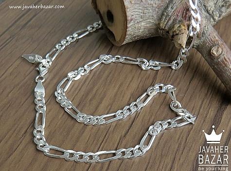 زنجیر نقره 57 سانتی - 43147
