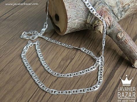 زنجیر نقره 57 سانتی - 43149