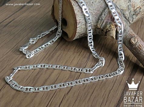 زنجیر نقره 34 سانتی - 43152