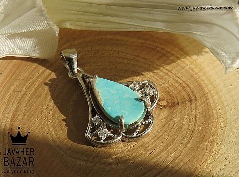 مدال فیروزه آبی زنانه