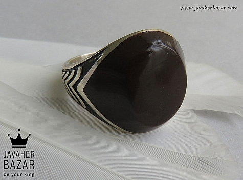 انگشتر نقره طرح اسپرت مردانه - 43456