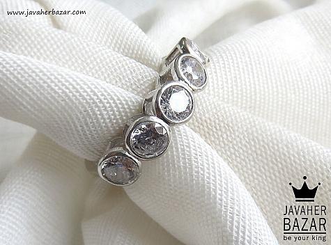 انگشتر نقره جواهری زنانه - 43502