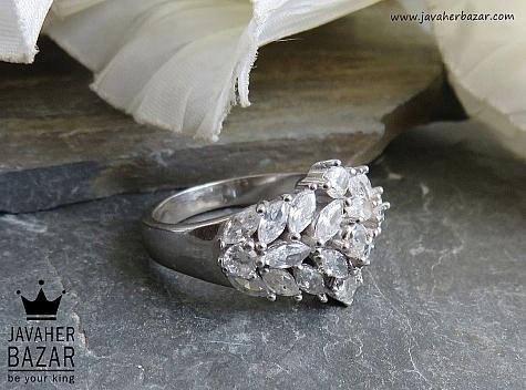 انگشتر نقره جواهری زنانه - 43527