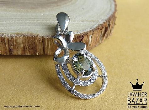 مدال نقره زبرجد طرح لیندا - 44005