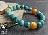 دستبند عقیق و جید خوش رنگ زنانه - 44011 - 1