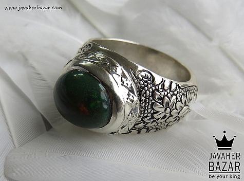انگشتر اپال سبز مردانه