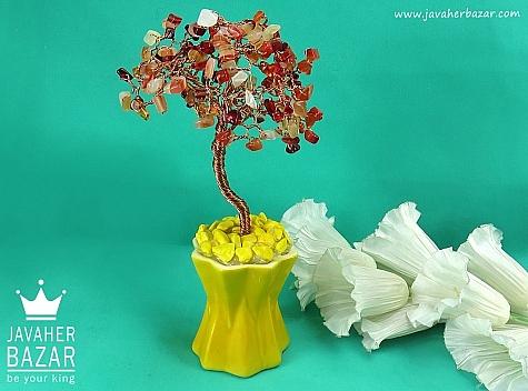 تندیس مس عقیق گلدان - 44181
