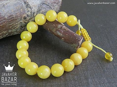 دستبند کهربا پودری زنانه - 44189