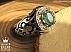 انگشتر نقره زمرد زامبیا و برلیان اصل کمیاب مردانه دست ساز - 44517 - 1